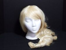 """KANEKALON Curly Blonde Heat Friendly Synthetic Wig 31"""" Cosplay Drag Costume"""