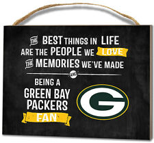 Green Bay Packers Small Plaque - Best Things [NEW] NFL Sign Wall Wood Hang Decor