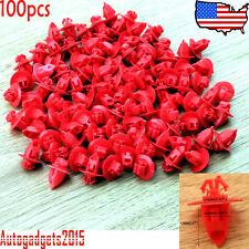 100 Pcs For Toyota Mudguard Fender Flare Moulding Retainer Clips