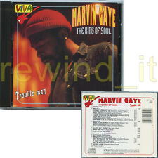 "MARVIN GAYE RARE CD 1994 ITALY ""THE KING OF SOUL - TROUBLE MAN"""