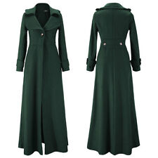 Floor Length Coat Women Jackets Long Sleeve Maxi Dress Winter Windbreaker