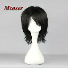 32cm Men Black Straight BleachKojima Mizuir Anime Hair Cosplay Wig Short Fashion