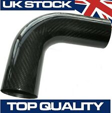 90 Degree Carbon Fibre Pipe, 51mm OD - Real Carbon Fiber Air Intake Induction