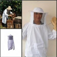 New Large Size Beekeeping Jacket and Veil Smock Bee Suit Bee Dress Equippment