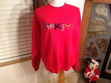 MICKEY & COMPANY VINTAGE PULL OVER SWEATSHIRT SIZE X-LARGE EMBROIDERED MOUSE