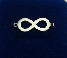 Sterling Silver 8x23mm Math Love Infinity Sign Charm Chain or Bracelet LINK