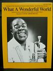 NEW & In Stock - WHAT A WONDERFUL WORLD - Louis Armstrong -  PVG Sheet Music