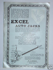 1924 EXCEL AUTO JACKS & RAND VISIBLE CARD RECORDS ADVERTISEMENT