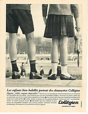 PUBLICITE ADVERTISING 034   1965   COLLEGIEN   chaussettes enfants