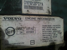 VOLVO FH16 D16C 550PS engine computer EDC ECU 20520547
