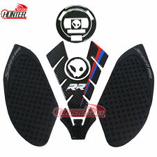 Twill Carbon Tank Pad Decal Sticker Emblem Protector for BMW S1000RR HP4 1000R