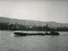 ALLEMAGNE c. 1960 - Péniche sur le Rhin à Boppard  - DIV8486