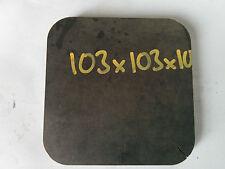 103mm x 103mm x 10mm DISCO ROTONDO OVALE Lastra foglio di acciaio dolce Anelli