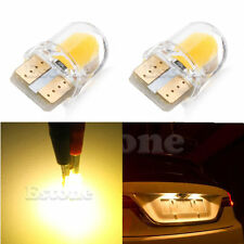 2pcs Warm White T10 194 168 W5W 1W 8 SMD COB Super Bright SILICA LED Light Bulb