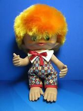 """Rare Vintage 1965 MONKEY BOY - 8"""" Unica Troll Doll - Made In Belgium - EXCELLENT"""