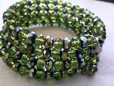 NWOT - KIRKS FOLLY Swarovski Crystal - adjustable Bracelet Silvertone