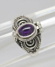 AMETHYST CREMATION RING SILVER CREMATION JEWELRY Size 8.75 URN RING MEMORIAL