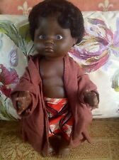 Vintage Toy Doll Figure - Vintage Ethnic African Doll
