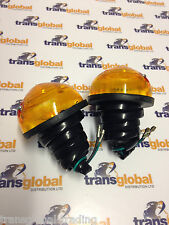 Land Rover Defender (to 95) Indicator Flasher Light Lamp Unit x2 Pair - Bearmach