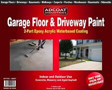 AdCoat Garage Floor & Driveway Paint - Waterbased 2-Part Epoxy, 1g Kit, Grey