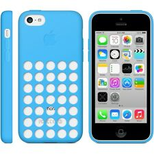 Original Genuino Apple iPhone 5C silicona caso de punto-azul MF035ZM/A