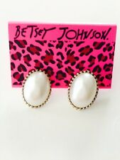 Betsey Johnson new White Peal Earrings