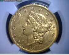 1873-S Open 3 $20 Twenty Dollar Liberty Head United States Gold Coin -NGC AU 53