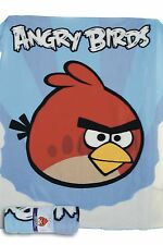 BRAND NEW ANGRY BIRDS BLUE FLEECE BLANKET RED BIRD 120CM X 150CM