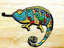 New Chameleon New Sew / Iron On Patch Embroidered Applique
