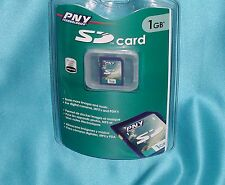 """PNY Technologies P-SD1G-RF3 1GB SD Card """"New- Factory Sealed – Great Find""""!"""