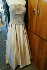montage collection by mon cheri size 12 champagne strapless floor length