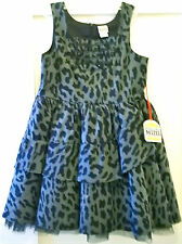 NWT HARAJUKU Gray Leopard Print Dress 10-12 L LG Large NEW