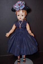"Vintage Madame Alexander 21"" BLONDE CISSY Doll WITH NAVY Tagged Outfit"