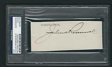 Julius Rosenwald signed page PSA Authenticated Sears Roebuck Owner Leader
