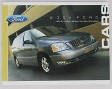 Ford 2004 Cars Focus Taurus Freestar Crown Victoria Sales Brochure / Literature