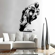 MARCO SIMONCELLI 58  WALL ART 02 motorcycle racer decal graphic adhesive UNIQUE