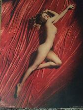 """Marilyn  Monroe Nude Red Velvet  Poster """"The Calendar"""" Photo by Tom Kelly 1972"""