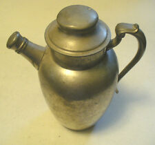 1 3-PIECE VINTAGE ANTIQUE PEWTER WATER TEA COFFEE POT PITCHER, **PEWTER HOARD**
