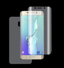 2 x Panzerfolie Samsung Galaxy S6 Edge 3D Komplett Rand TPU Folie 1xVORN+1xRÜCK