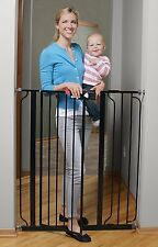 Regalo Deluxe Easy Step Extra Tall Walk Thru Baby Pet Child Safety Gate Black