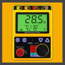Digital Earth Ground Resistance Meter Tester Range 0-2000 Ohm 2/3Lines AR4105B