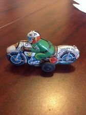 Tin Toy Motorcycle Military Police