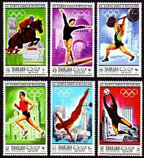Sharjah 1968 ** Mi.489/94 A Olympische Spiele Olympic Games perf.