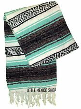 MINT Mexican Blanket 4' x 6' Falsa Serape Yoga Mat Baja Falza Throw