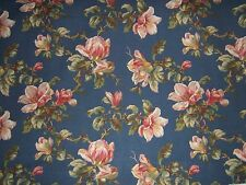 """Lee Jofa """"Whitford Rose"""" fabric by the yard color blue"""