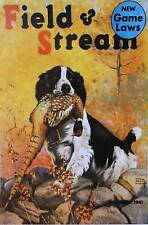 Vintage art Field & Stream Ad Lynn Bogue Hunt Springer with Pheasant