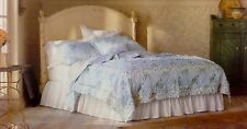 NWT 2pc SIMPLY SHABBY CHIC BLUE FLORAL ROSES TWIN SIZE QUILT SET RACHEL ASHWELL
