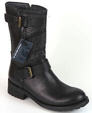 G-STAR RAW Kurz Stiefel 37 LEDER Foundry Footwear Schwarz Boots Stiefelette NEU