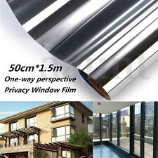 Mirror One Way Silver Glass Window Film Static Cling Privacy Security Sticker
