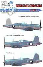 EagleCals Decals 1/72 VOUGHT F4U-1 BIRDCAGE CORSAIR Fighters Part 1